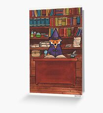 James the Wizard Fox Greeting Card