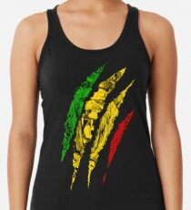 Krieger Löwe von Juda König Rasta Reggae Jamaika Wurzeln Racerback Tank Top