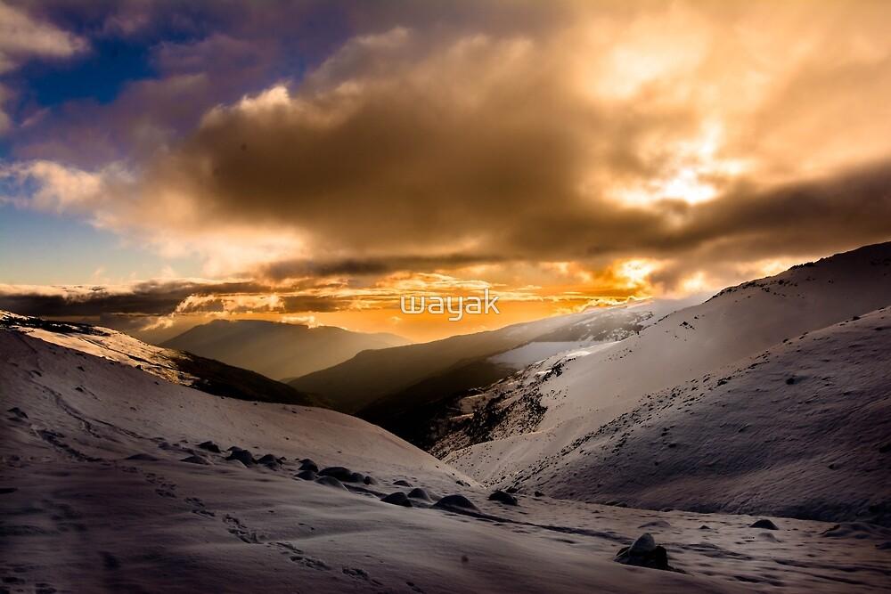 Sunset in Mulhacen by wayak