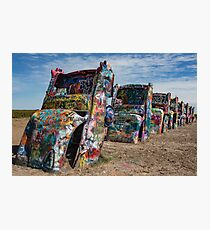 Cadillac Ranch, Amarillo, Texas Photographic Print