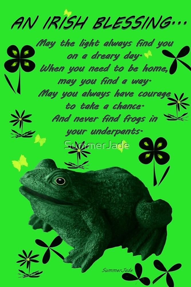 Froggy in Clover... or Shamrocks? by SummerJade