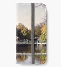Uppsala, Fyris river, autumn iPhone Wallet