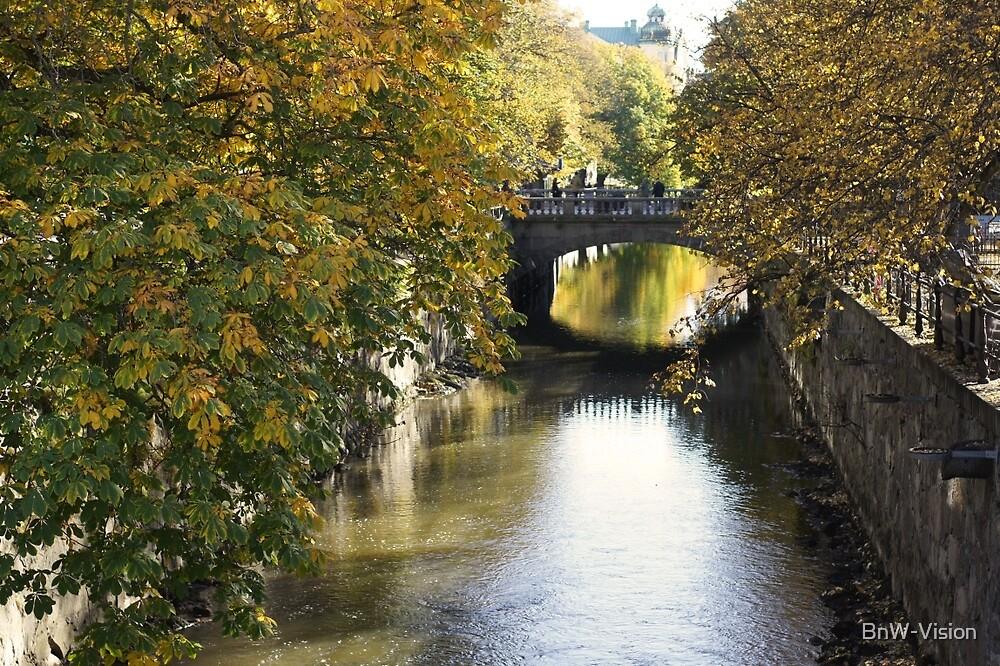 Uppsala, Fyris river, autumn by BnW-Vision