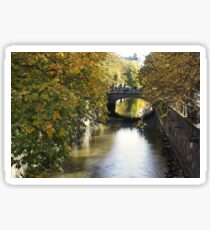 Uppsala, Fyris river, autumn Sticker