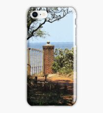 Wooden Gate with Padlock and Chain iPhone Case/Skin