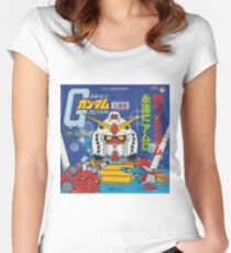Mobile Suit Gundam Record Sleeve Front Cover Fitted Scoop T-Shirt