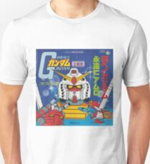 Mobile Suit Gundam Record Sleeve Front Cover T-Shirt