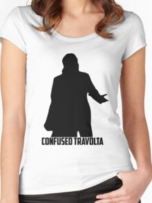 Confused Travolta Women's Fitted Scoop T-Shirt