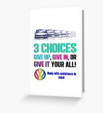 VW Endurance Greeting Card