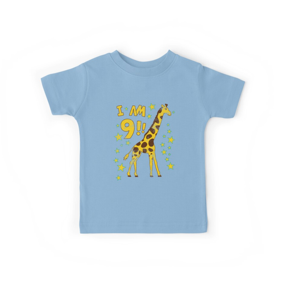 Giraffe 9th Birthday Party by superpartytees