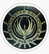 Battlestar Galactica Badge Sticker