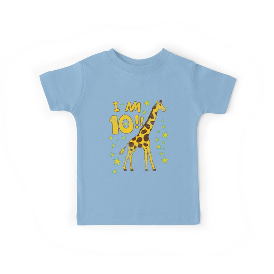 Giraffe 10th Birthday Party by superpartytees