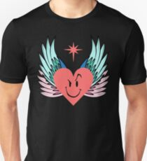 Funny Angelic Flirting Smiley Face Heart Fun Mode Unisex T-Shirt