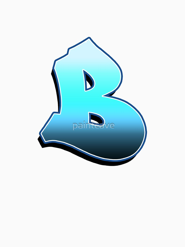 Letter B - Blue Fade by paintcave