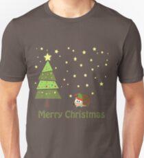 Cute hedgehog Christmas Scene T-Shirt