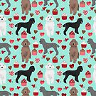 Poodles valentines day love hearts cupcakes pattern dog breed art print gifts for dog lover poodle by PetFriendly by PetFriendly