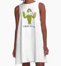Everyone Need Hugs, funny cactus A-Line Dress