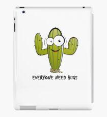 Everyone Need Hugs, funny cactus iPad Case/Skin