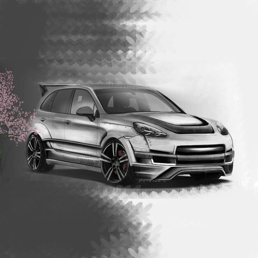 Porsche Cayenne Sakura Artrace body-kit. by artrace