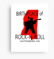 Rock Birth Red Canvas Print