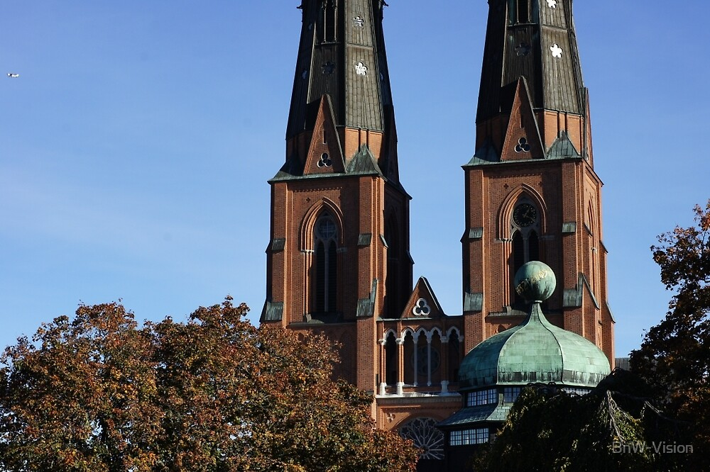 Uppsala Cathedral and Gustavianum building by BnW-Vision