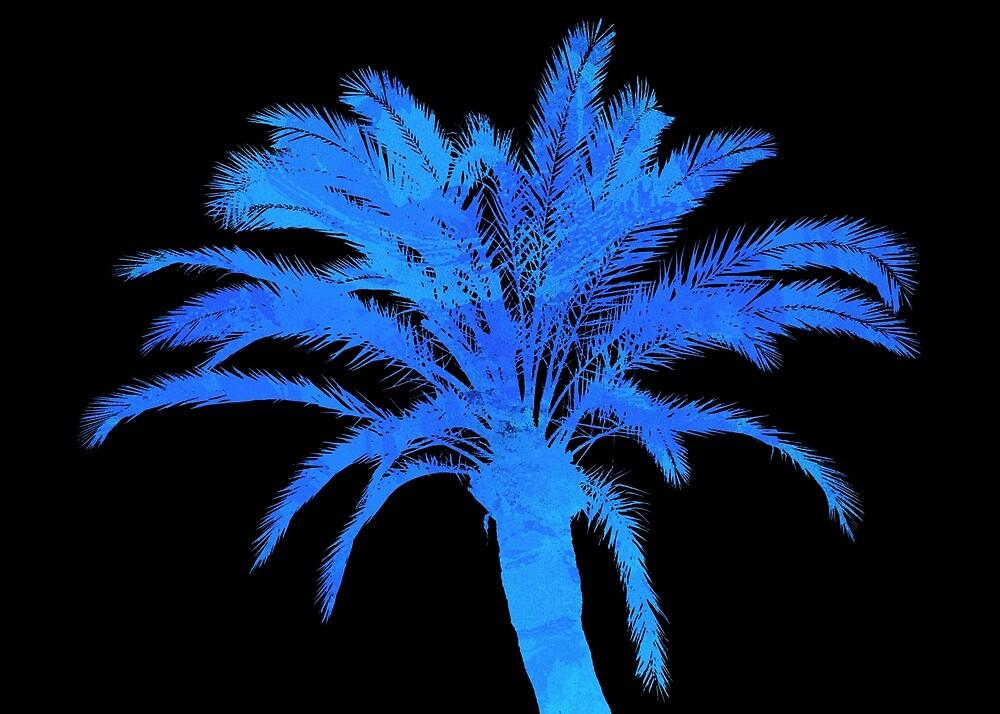 Blue Palm Tree by Andrea Mazzocchetti