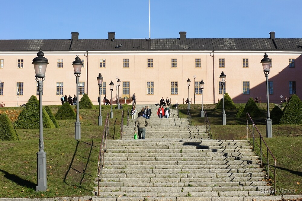 Uppsala Castle, steps by BnW-Vision