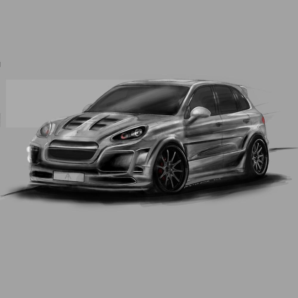 Porsche Cayenne Gray Artrace body-kit by artrace