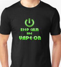 Keep Calm and Vape On Unisex T-Shirt