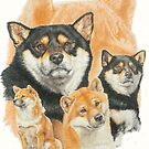 Shiba Inu /Ghost by BarbBarcikKeith