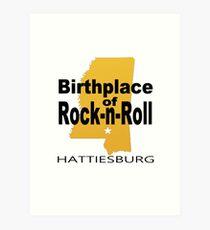 Rock Birth 2 gold Art Print