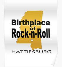 Rock Birth 2 gold Poster
