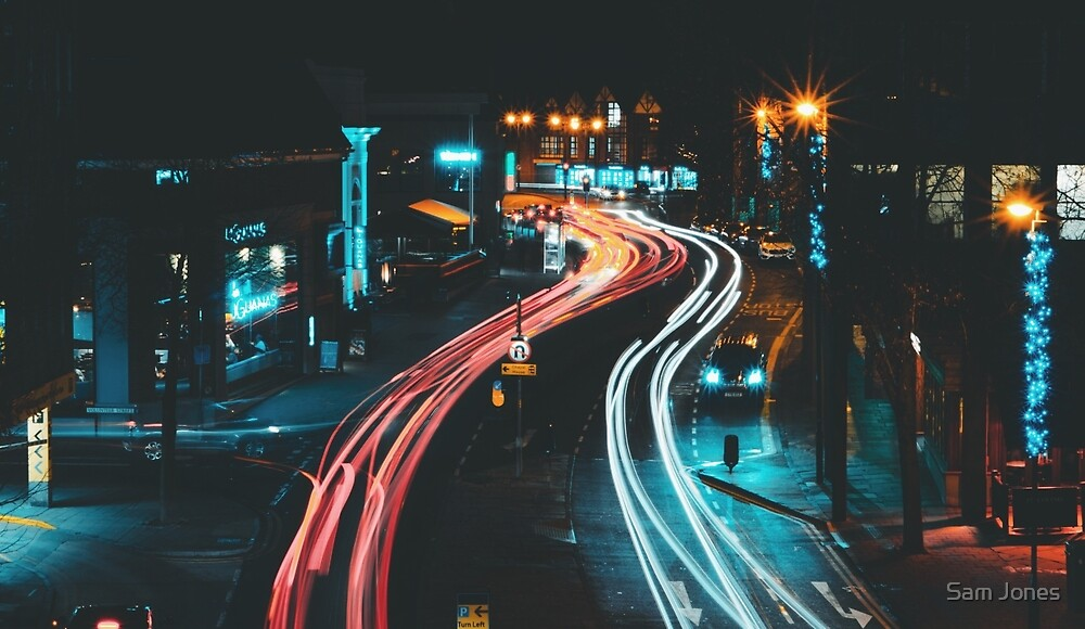 Streams of Traffic in Chester by Sam Jones