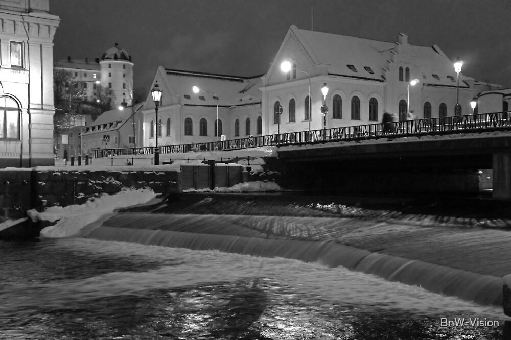 Uppsala, Fyris river, winter by BnW-Vision