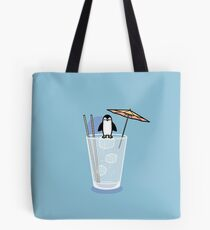 Penguin on the rocks Tote Bag