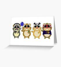 Hamsters Greeting Card