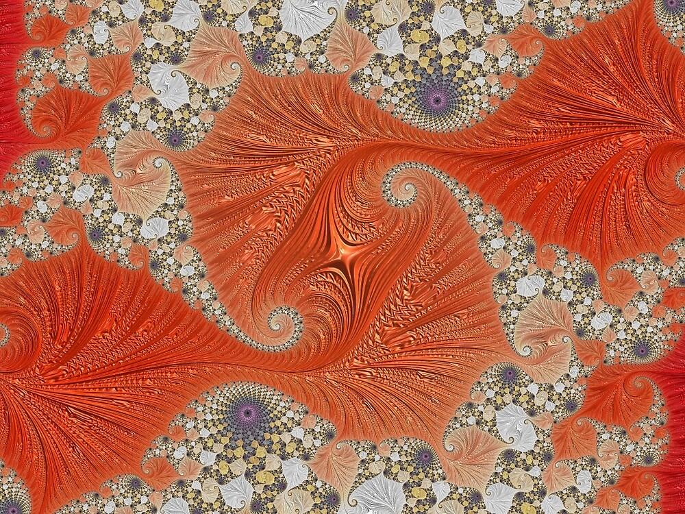 Ornamental Orange Fractal  by holidayfashion