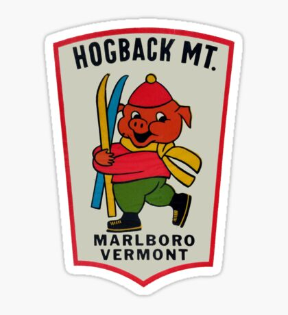 Hogback Mountain Marlboro Vermont Vintage Travel Decal Sticker