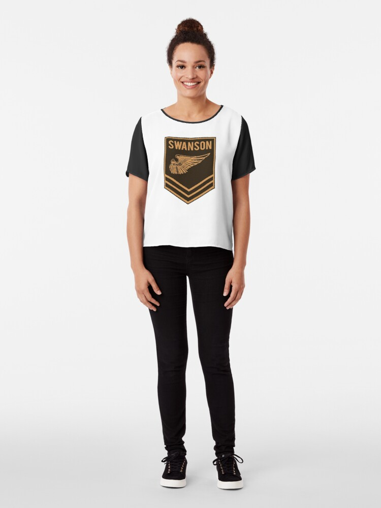 Alternate view of Parks and Recreation - Swanson Ranger Club Chiffon Top
