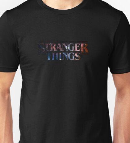 Stranger Things Galaxy words Unisex T-Shirt