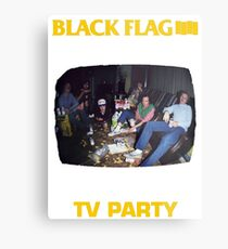 Black Flag - TV Party Metal Print