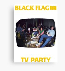 Black Flag - TV Party Canvas Print