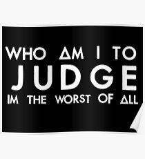 judge (white) Poster