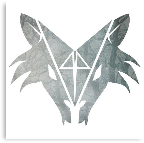 Wolfhead - logo with trees by Boštjan Volk