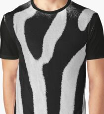 Black And White Zebra Skin Texture Graphic T-Shirt