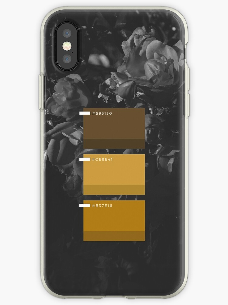 Dark Mustard Yellow Floral Color Palette Iphone Case By Kaespo