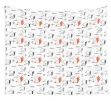 Birds in flames Wall Tapestry