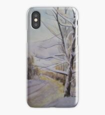 Last Winter Sunset Snow Scene iPhone Case/Skin