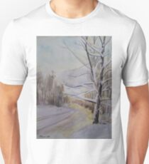 Last Winter Sunset Snow Scene Unisex T-Shirt