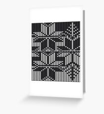Winter knit  Greeting Card